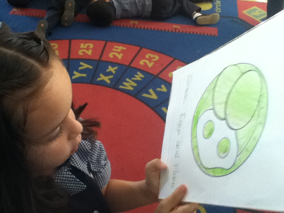 Green eggs and ham worksheet fun.