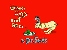 International poetry day green eggs and ham.
