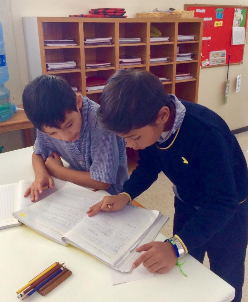 El aprendizaje de las matemáticas y el trabajo  colaborativo.
